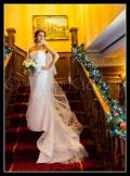 Sharon wears a beautiful wedding dress from Bride2b.ie Galway